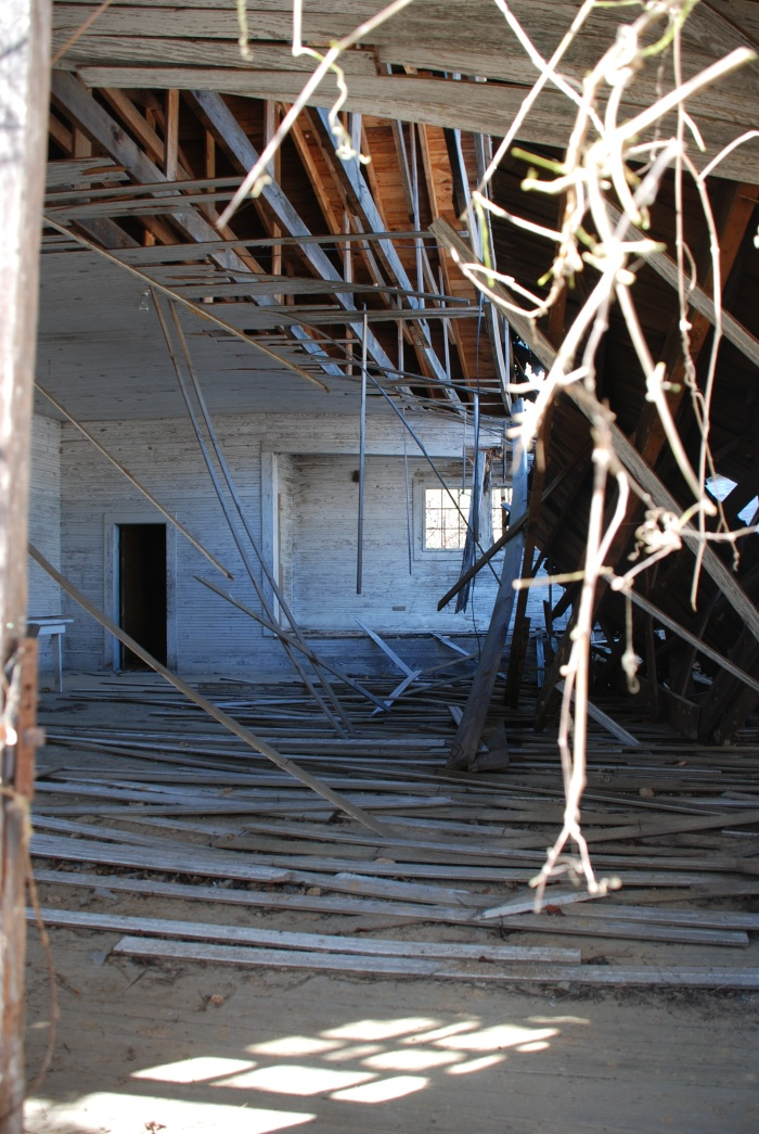 The collapsing ruins of Gum Branch School in Winston County.  Goodbye old friend. . .