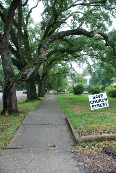 Church Street under the live oaks, Port Gibson