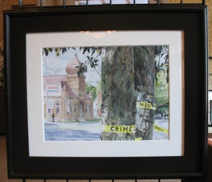 """Church Street Crime Scene"" (my title) by Briar Jones"