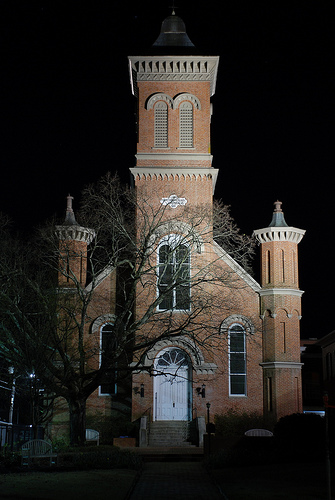 First Presbyterian Church, Oxford. Built 1881 and I'm embarrassed to say I don't know the architect. The raking bright light just seemed to call to me to take a shot, and luckily I'm nerdy enough to have had my tripod handy.