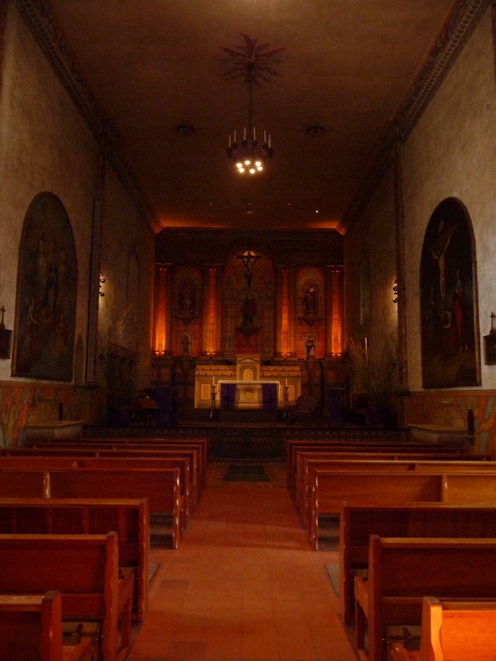 Mission Santa Barbara, chapel interior