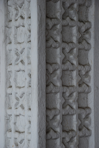 Just an interesting design on a pilaster on the square, Holly Springs