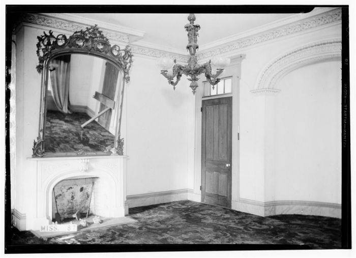 HABS photo of Waverley, taken in 1936 after years of vacancy
