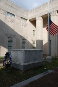 War Memorial Building courtyard (1939-40), Jackson