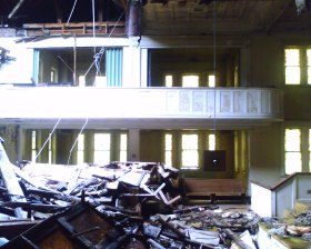 First Baptist Church interior, photo 2007