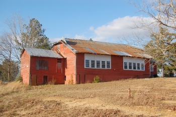 Walthall County Training School (Ginntown School), Tylertown. Built in 1921 to the standardized Rosenwald plan #400