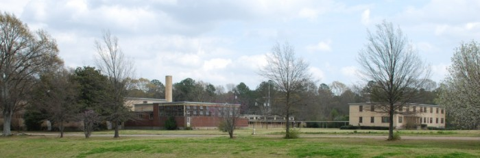 School for the Blind campus, north side of Eastover Drive on I-55, Jackson. Demolished Nov 2013.