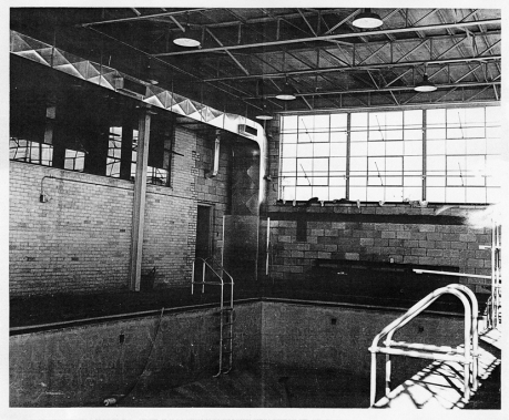 School for the Blind, c.1955: the swimming pool inside the red brick section on the south side
