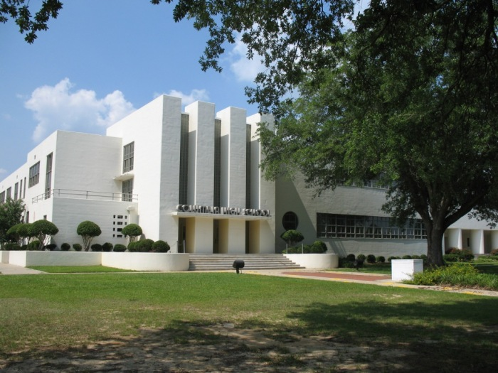 Columbia High School (1937-38, Overstreet & Town, archts.)