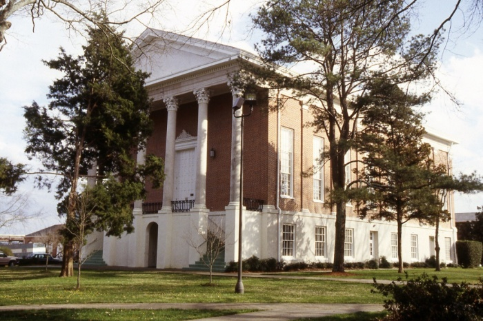 Provine Chapel, Mississippi College, Clinton (built 1859, designed by Jacob Larmour and built by J. McLaughlin). Larmour also designed the Chapel of the Cross in Madison County, Grace Episcopal Church in Canton, and <i>possibly</i> the Manship House in Jackson