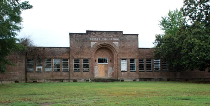 Benton High School, built 1930 by Lumbergh & Hayes (Canton architects/builders), abandoned late 1990s