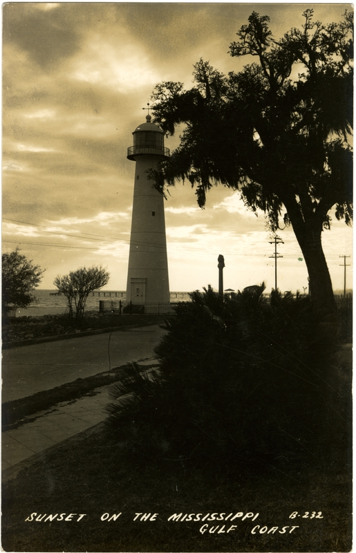 From Sunset on the Mississippi Gulf Coast.  Sysid 93358.  Scanned as tiff in 2009/07/30 by MDAH.  Credit:  Courtesy of the Mississippi Department of Archives and History
