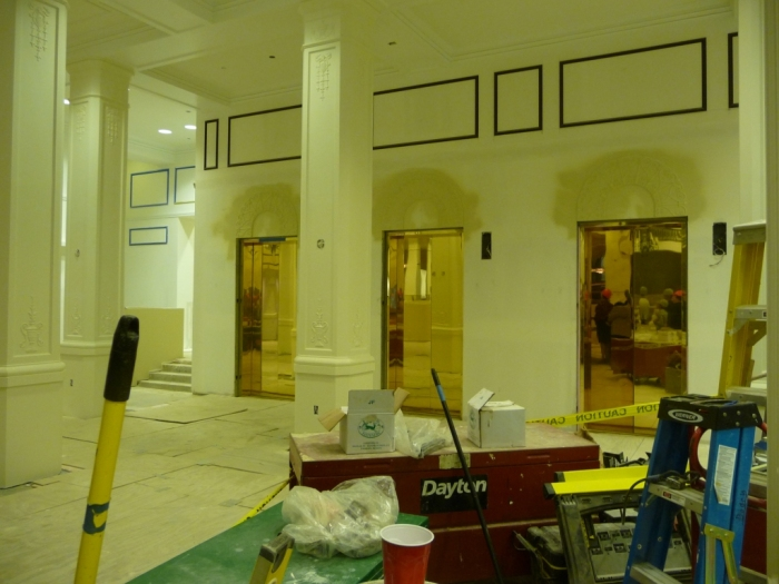 main entrance lobby, elevators