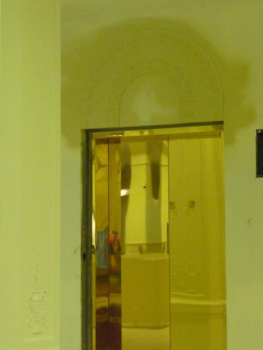 1st floor elevator doors and applied detail