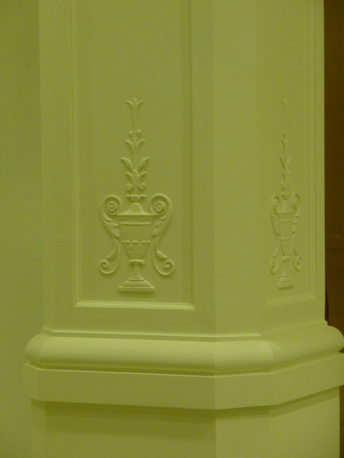 main entrance lobby, typical column detail