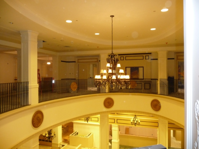 2nd floor balcony overlooking main lobby