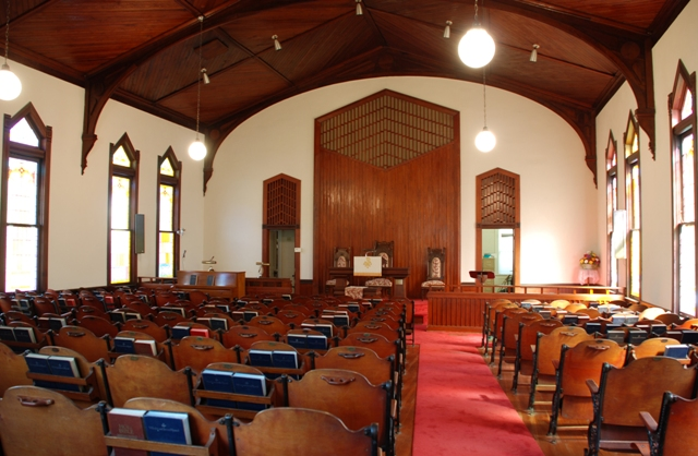 interior, Carrollton Presbyterian Church (1897)