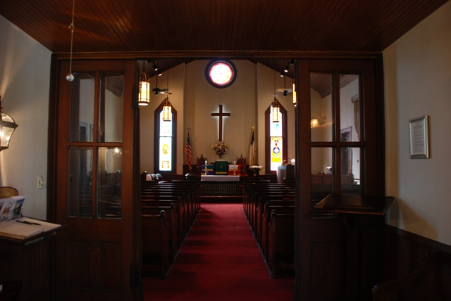 interior, Carrollton Methodist Church (1885)