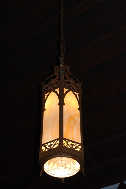 light fixture, Carrollton Methodist Church (1885)