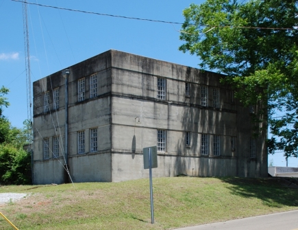 Tippah County Jail (1938), Ripley [Overstreet & Town, archts.]--one of seven concrete jails designed by Overstreet & Town.