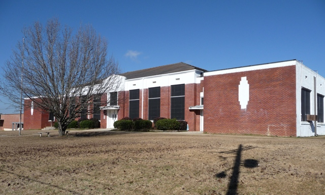 Mendenhall School Administration Building (1938). Designated Mississippi Landmark Jan 20, 2012.