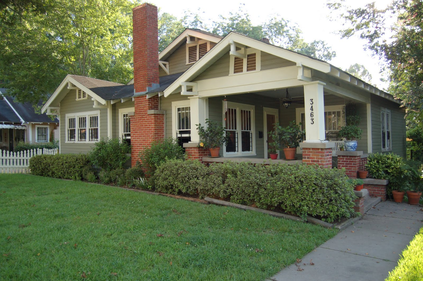 Young bungalow for sale in canton preservation in Craftsman style gables