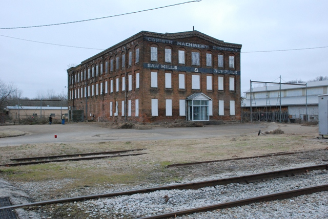 Corinth Machinery Building (1869). Oldest industrial building in Mississippi. Finally collapsed after years of neglect in January 2012.