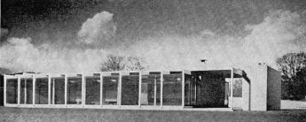 Roy Residence, Waveland Mississippi from Progressive Architecture magazine, January 1956