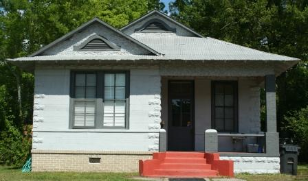 Lameuse Street concrete block cottage. Biloxi, Harrison County. photo by TRosell from Misspreservation.com accessed 6-17-2013