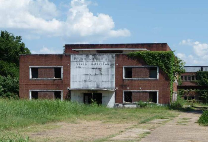 Kuhn Hospital, one of the popular Abandoned Mississippi series.