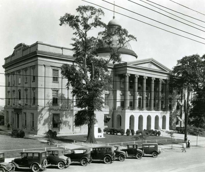 Old Mississippi State Capitol, Jackson, 1930s operating as a state office building (courtesy MDAH)