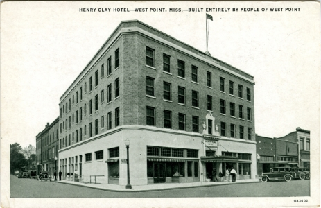 Henry Clay Hotel - West Point, Miss. Sysid 90706. Scanned as tiff in 2008/06/17 by MDAH. Credit: Courtesy of the Mississippi Department of Archives and History