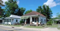**Marshall and Fannie Nichols House, Biloxi (c.1910). The home of prominent black educators, Marshall and Fannie Nichols, this Biloxi cottage is one of the few remnants of a once-thriving black neighborhood centered on the now demolished Nichols School. Now owned by a non-profit group that plans to renovate the house for after-school programs.