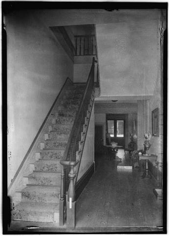 Historic American Buildings Survey (HABS), James Butters, Photographer June 26, 1936 DETAIL STAIR (LOOKING WEST)