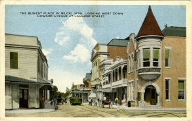 From The Busiest place in Biloxi, Miss., looking west down Howard Avenue at Lameuse Street. Courtesy of the Mississippi Department of Archives and History.