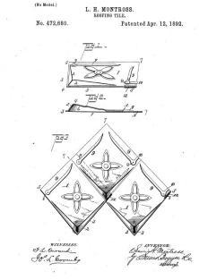 Diamond pattern patent filed February 28 1891