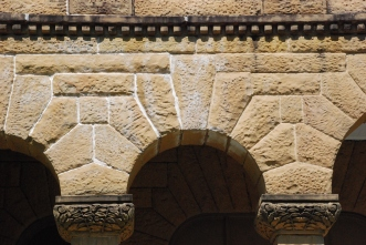 Dentils, Washington County Courthouse, Greenville. Photo by Jennifer Baughn, MDAH, Aug 2010. Retrieved 1/18/12 from MDAH Historic Resources Inventory (HRI) Database.