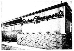 Gordon Transports, Inc. Warehouse and Terminal Photograph by Joseph Molitor Feb. 11, 1954. N.W. Overstreet & Associates, Architects