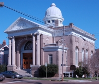 Temple B'nai Israel, Natchez, Adams County. Photo by Unknown Source. 03/06/2008. Retrieved 11/30/12 from Mississippi Historic Resources Inventory (HRI) Database.