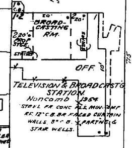 1962 Sanborn Fire Insurance map, Lamar Life Radio building