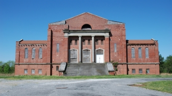 Carnegie Auditorium, Holly Springs, Marshall County , Style: Colonial Revival, Photo by Jennifer Baughn, MDAH, 04/11/2011. Retrieved 3/21/12 from Mississippi Historic Resources Inventory (HRI) Database. http://www.apps.mdah.ms.gov/Public.