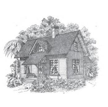 "Laborers Cottage on the Estate of J.A. Minniece Esq. Scooba, MS.  Palliser, Palliser & Company, Architects. Built c. 1877.  Image from publication ""Palliser's Model Homes"" 1883 edition."