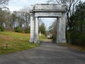 Enter at the Memorial Arch, dedicated in 1920 as a memorial to the 1917 four-day reunion of veterans. Originally standing astride Clay Street, it was moved into the boundaries of the Park in 1967.