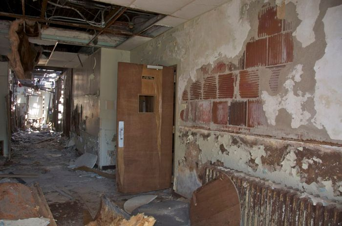 Taborian Hospital interior, April 2012, just before the start of work. Photo by Suzassippi.