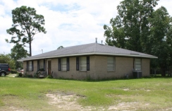 House at intersection of Holly Circle and Tulip Court, Forest Heights Subdivision. Gulfport Miss. Image made by author 7-22-2012