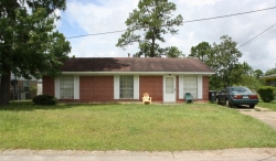 House on Elm Court, Forest Heights Subdivision. Gulfport Miss. Image made by author 7-22-2012