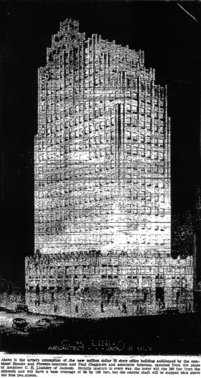 Rendering of the Tower Building c.1929