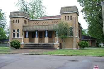 Beth Israel Synagogue, Clarksdale, Coahoma County. Photo by J Baughn, MDAH, 04-30-2009. Retrieved 11/30/12 from Mississippi Historic Resources Inventory (HRI) Database.