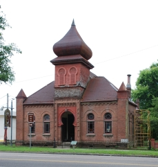 Temple Gemiluth Chassed, Port Gibson, Claiborne County. Photo by J Baughn, MDAH, 05-10-2009. Retrieved 11/30/12 from Mississippi Historic Resources Inventory (HRI) Database.