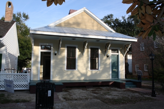 Slay House, 128 Rue Magnolia, Biloxi (moved from 132 Reynoir). Designated Mississippi Landmark Sept. 7, 2012.
